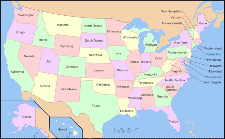 Find The US States Quiz United States Physical Map Interactive - Online us map test